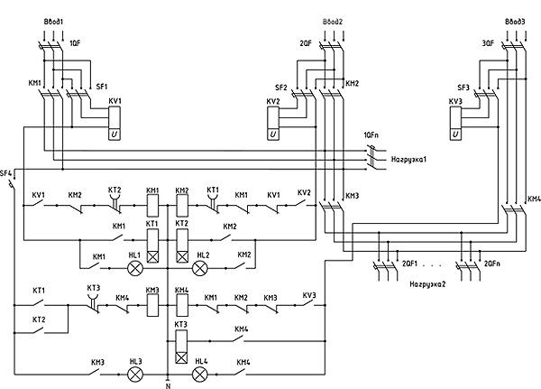 Схема АВР-300