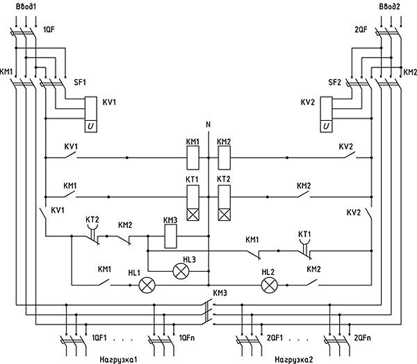 Схема АВР-500