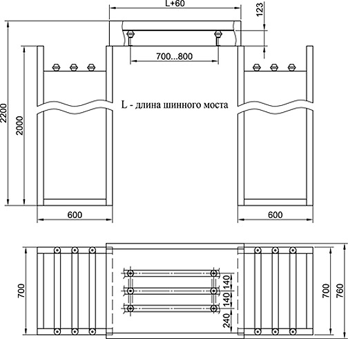 расположении панелей ЩО-90